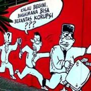 mural - korupsi
